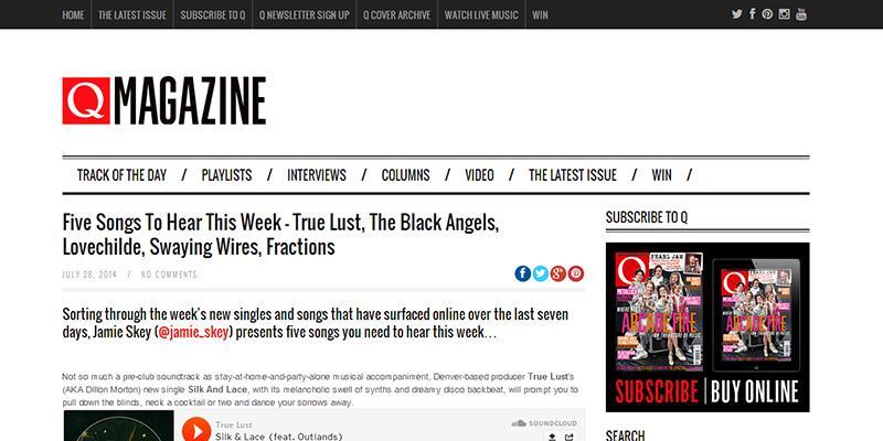 q magazine feature